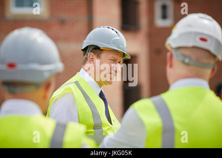 Barratt Homes DAVID THOMAS  Group Chief Executive visit to their Walkden Scholars Green site in Salford - Stock Photo
