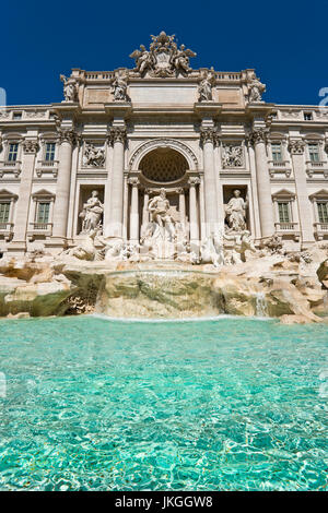 Vertical close up view of the Trevi Fountain in Rome. - Stock Photo