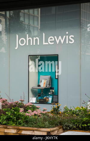 John Lewis display window at Westfield Shopping Centre, Stratford, Borough of Newham, London, England, U.K. - Stock Photo