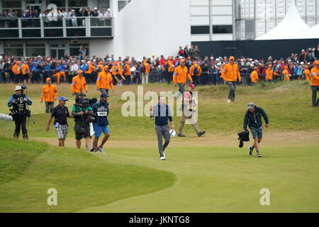 Southport, Merseyside, UK. 23rd July, 2017. Jordan Spieth (USA) Golf : Jordan Spieth of the United States on the - Stock Photo