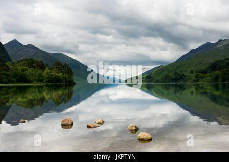 UK Scotland Highland Inverness-shire Loch Shiel at Glenfinnan - Stock Photo