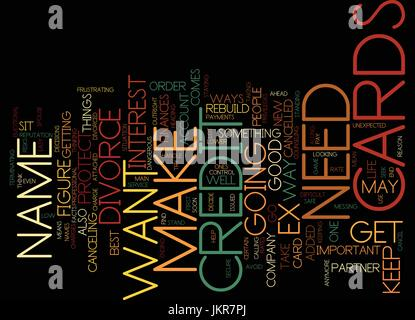 THE CREDIT CARDS TO CANCEL Text Background Word Cloud Concept - Stock Photo