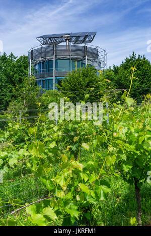 Solar architecture, Heliotrope, architect Rolf Disch, Freiburg, Freiburg, Baden-Wuerttemberg, Schwarzwald, black - Stock Photo