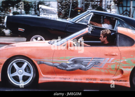 fast and the furious, vin diesel, paul walker, 2001 - Stock Photo