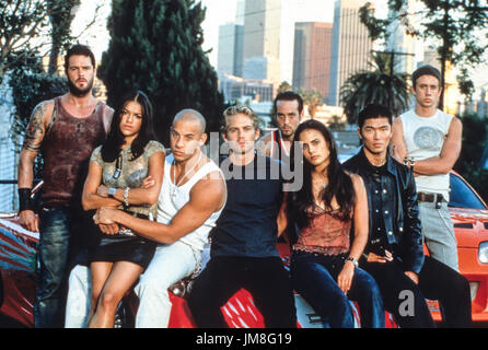 fast and the furious, cast, 2001 - Stock Photo