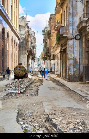 Havana Cuba Street Scene - Stock Photo