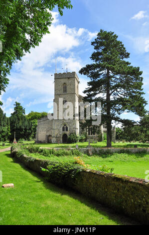 St Peter's Church in the village of Moulton, Suffolk, England, UK - Stock Photo