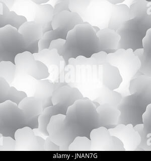 Abstract seamless pattern with clouds. Cloudy sky tiled background - Stock Photo