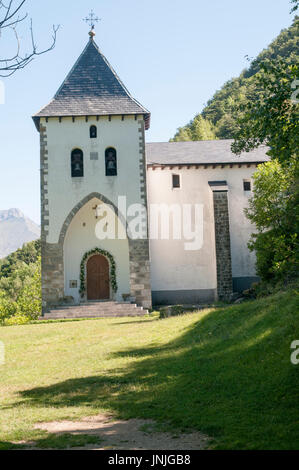 Ermita de Sta Elena at the fort of Santa Elena, Pyrenees Mountains, Huesca province, Aragon, Spain - Stock Photo