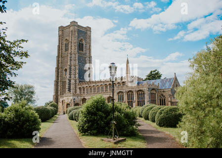 Church of St Peter and St Paul, Lavenham, Suffolk - Stock Photo