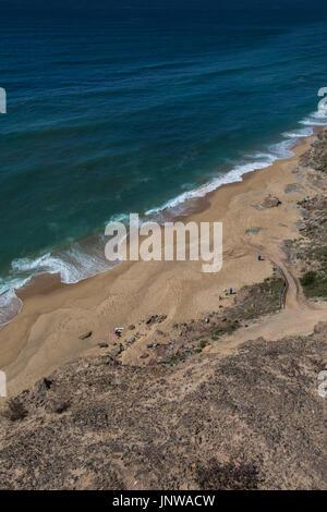 Santa cruz Portugal. 26 June 2017. Amoreiras beach in Santa Cruz.  Santa Cruz, Portugal. photography by Ricardo - Stock Photo