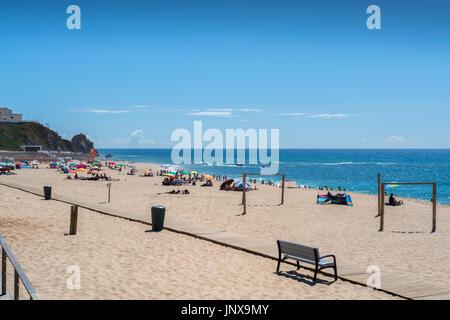 Santa cruz Portugal. 26 June 2017. Fisica beach in Santa Cruz.  Santa Cruz, Portugal. photography by Ricardo Rocha. - Stock Photo