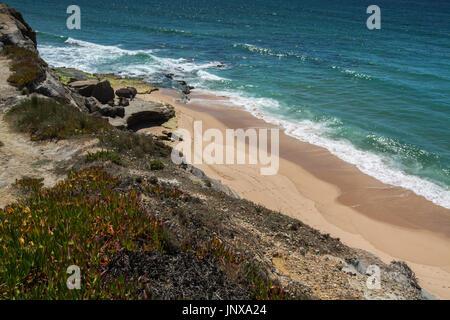 Santa cruz Portugal. 26 June 2017. Mexilhoeira beach in Santa Cruz.  Santa Cruz, Portugal. photography by Ricardo - Stock Photo