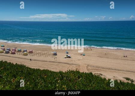 Santa cruz Portugal. 26 June 2017. Pisao beach in Santa Cruz.  Santa Cruz, Portugal. photography by Ricardo Rocha. - Stock Photo