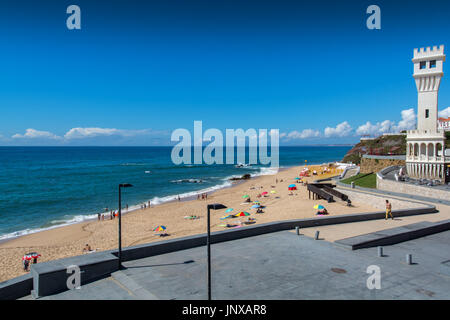 Santa cruz Portugal. 26 June 2017. Santa Helena beach in Santa Cruz.  Santa Cruz, Portugal. photography by Ricardo - Stock Photo