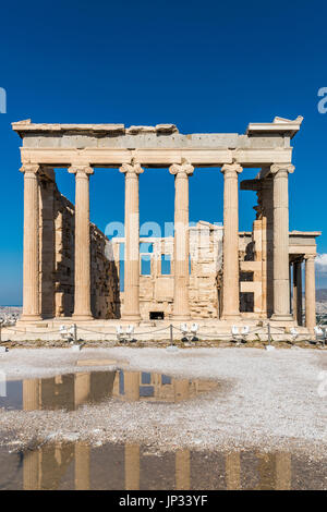Erechtheion temple, Acropolis, Athens, Attica, Greece - Stock Photo