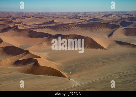 Dune 45 view from the air, Namib Naukluft national park in Namibia - Stock Photo