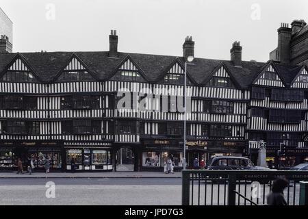 The Tudor Half-timbered Staple Inn in High Holborn, London, England, UK. Circa 1980's - Stock Photo