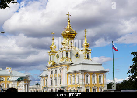 The Church at Peterhof Palace, St. Petersburg, Russia - Stock Photo