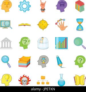 Brilliant idea icons set, cartoon style - Stock Photo