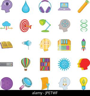 Wheeze icons set, cartoon style - Stock Photo