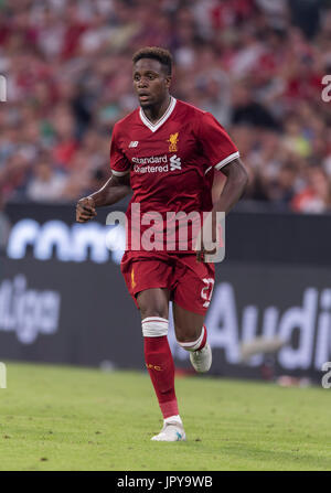 Munich, Germany. 2nd Aug, 2017. Divock Origi (Liverpool) Football/Soccer : Audi Cup 2017 Final match between Liverpool - Stock Photo
