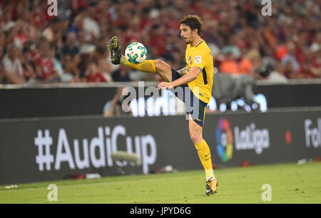 Munich, Germany. 2nd Aug, 2017. Madrid's Sime Vrsaljko with the ball during the Audi Cup final soccer match between - Stock Photo