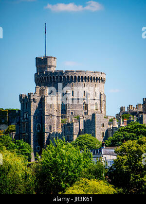 Windsor Castle Skyline, Windsor, Berkshire, England, UK, GB. - Stock Photo