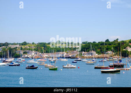 Sailing boats and yachts in Falmouth harbour, Falmouth, Cornwall, UK - Stock Photo