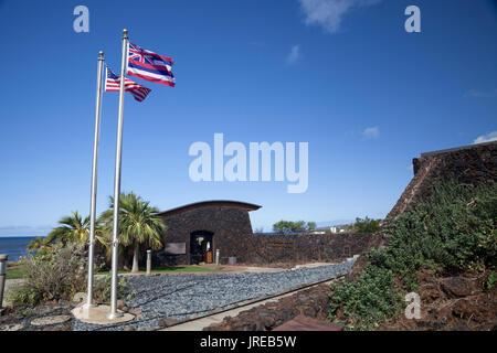 HI00444-00...HAWAI'I - Pu'ukohola Heiau National Historic Site along the Konna Coast of the island of Hawai'i. - Stock Photo