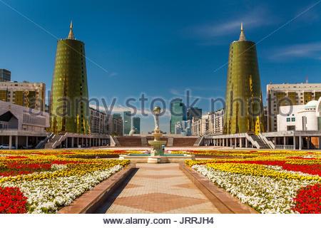 Kazakhstan, Astana City, New Administrative City, Nurzhol Avenue Parlament - Stock Photo