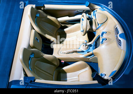 A luxury car interior - Stock Photo