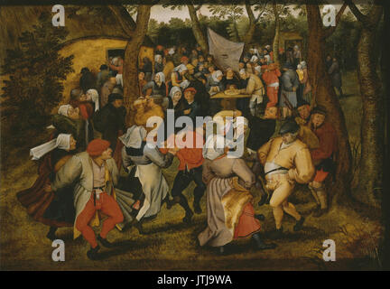 Pieter Brueghel the Younger   Peasant Wedding Dance (Paris, Louvre) - Stock Photo