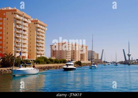 Puerto Tomas Maistre, La Manga, Murcia, Spain - Stock Photo