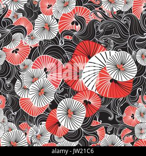 Abstract fantastic bright colored pattern of round elements - Stock Photo