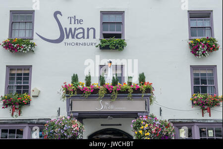 The Swan at Thornbury South Gloucestershire - Stock Photo