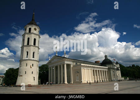 Cathedral Square, Vilnius, Lithuania - Stock Photo