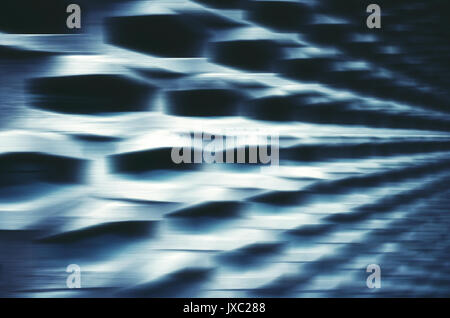 Motion blurred abstract futuristic background or wallpaper. - Stock Photo