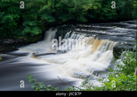 The Famous Aysgarth Falls Waterfall (Middle Falls) near Hawes in The Yorkshire Dales National Park, North Yorkshire, - Stock Photo
