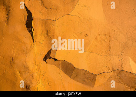 Cracked wall texture close up. - Stock Photo