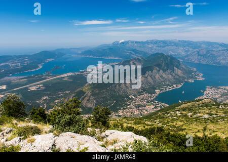 Kotor Bay and Boka Kotorska Bay - Montenegro - Stock Photo