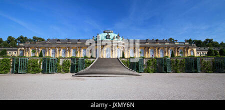 Sanssouci palace in Potsdam  / Germany / Panorama - Stock Photo