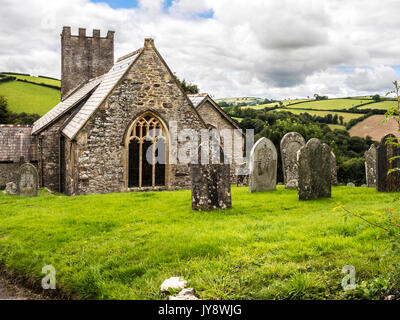 St.Peter's Church in Exton, Somerset. - Stock Photo