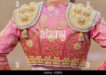 Detail of the 'traje de luces' or bullfighter dress, Spain - Stock Photo