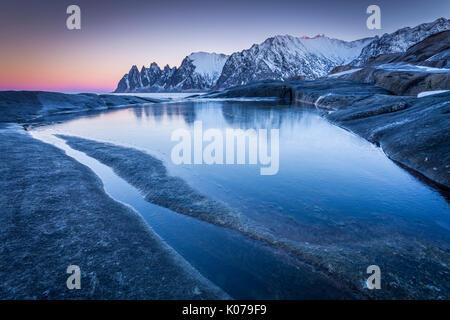Tungeneset, Senja Island, Norway - Stock Photo