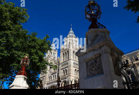 Impressive building of the Natural History Museum in London, England - Stock Photo