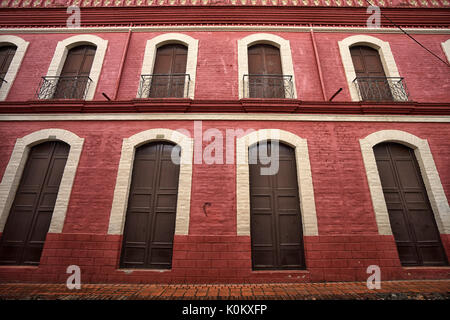 July 10, 2017 Buga, Valle de Cauca, Colombia: architectural details of the town which one of the oldest colonial - Stock Photo