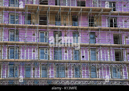 18th August 2017, Southend On Sea, Essex, England, Insulation is installed in Buildings being converted from Office - Stock Photo
