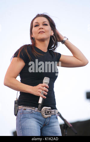 Musician Gretchen Wilson performing 2008 Stagecoach Country Music Festival Indio. - Stock Photo