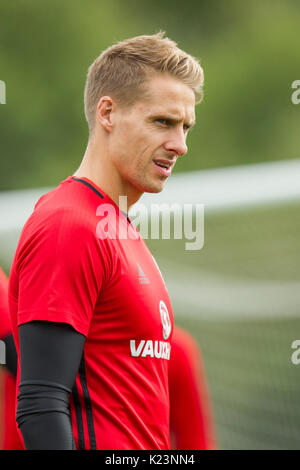 Hensol, Wales, UK, 29th August 2017. David Edwards during Wales national team training ahead of the World Cup 2018 - Stock Photo